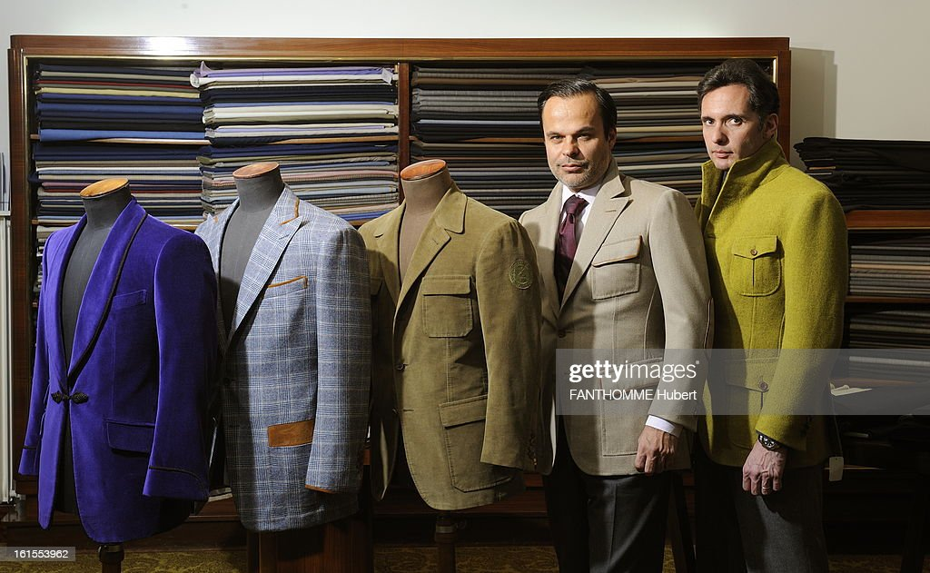 Cifonelli House In Paris. Menswear: The Largely Manufactured So Artisanal  And Scratched At Half