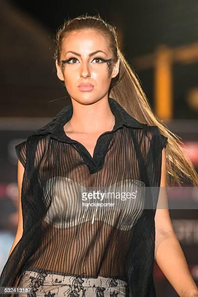 Semana da Moda Da passarela mulher na fase