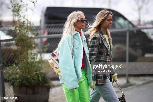 Fashion Week guest before Lala Berlin on January 30, 2020 in Copenhagen, Denmark.