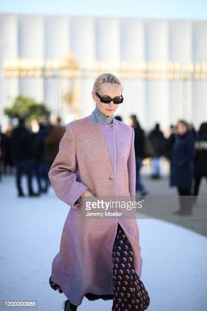 Fashion week guest before the Louis Vuitton AW20 Men Show on January 16 2020 in Paris France