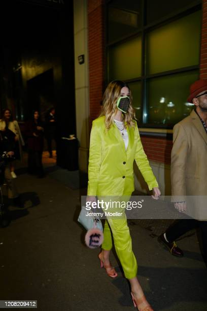 Fashion Week guest is seen before Fendi during Milan Fashion Week Fall/Winter 20202021 on February 20 2020 in Milan Italy