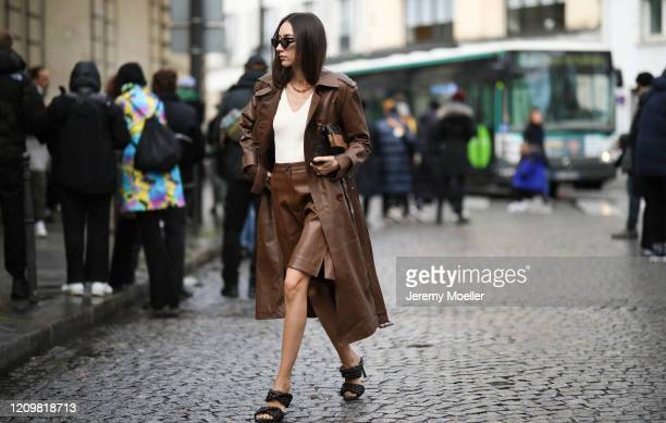 Fashion Week guest is seen outside Altuzarra show during Paris Fashion week Womenswear Fall/Winter 2020/2021 Day Six on February 29 2020 in Paris...