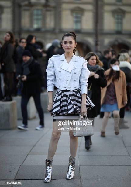 Fashion Week guest is seen outside Louis Vuitton show during Paris Fashion week Womenswear Fall/Winter 2020/2021 Day Nine on March 03 2020 in Paris...