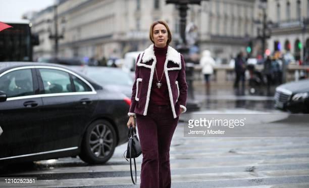 Fashion Week guest is seen outside Stella McCartney show during Paris Fashion week Womenswear Fall/Winter 2020/2021 Day Eight on March 02, 2020 in...