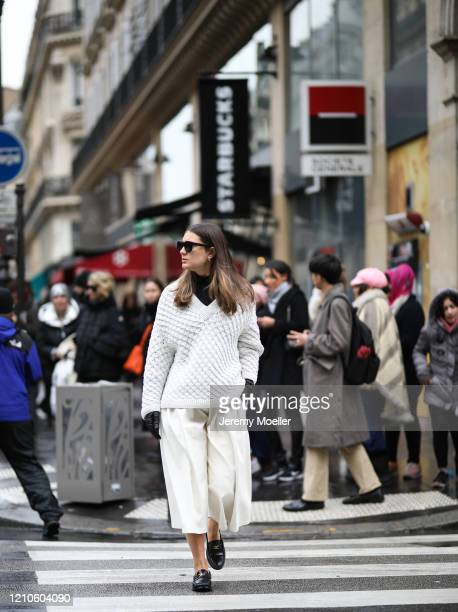Fashion Week guest is seen wearing outside the Giambattista Valli show during Paris Fashion week Womenswear Fall/Winter 2020/2021 Day Seven on March...