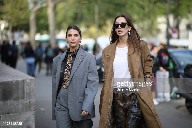 Fashion Week guest on September 28 2019 in Paris France