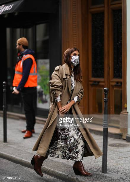 Fashion Week guest seen outside Paco Rabanne during Paris Fashion Week - Womenswear Spring Summer 2021 : Day Seven on October 04, 2020 in Paris,...
