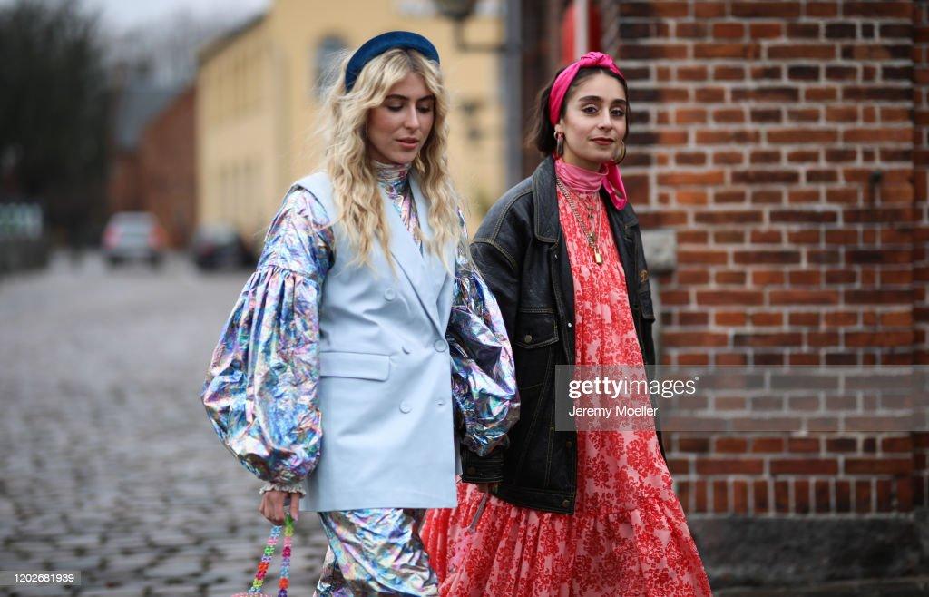 Street Style - Day 2 - Copenhagen Fashion Week Autumn/Winter 2020 : News Photo