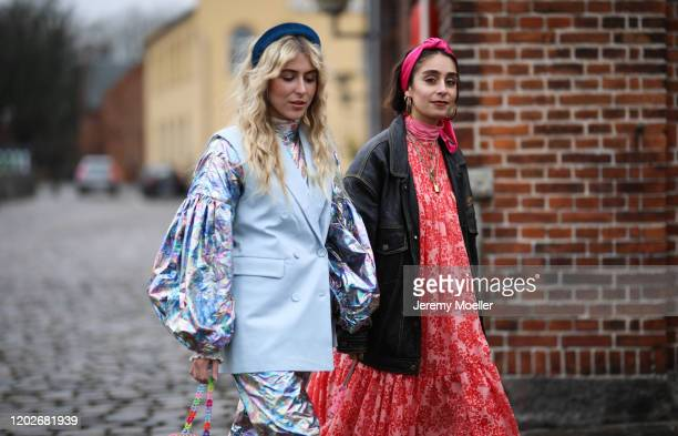 Fashion Week guests before Mykke Hofmann on January 28, 2020 in Copenhagen, Denmark.