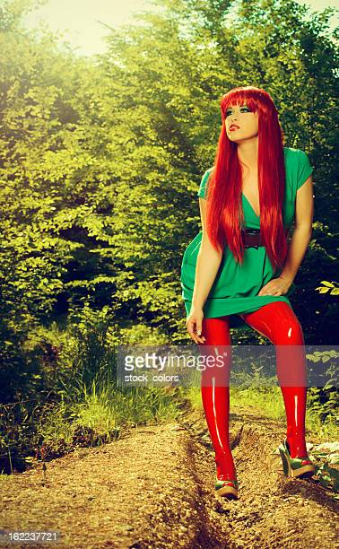 fashion woman - latex stock photos and pictures