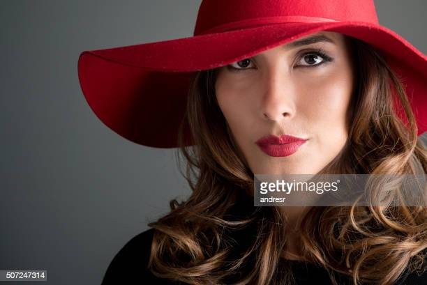 Fashion woman wearing a hat