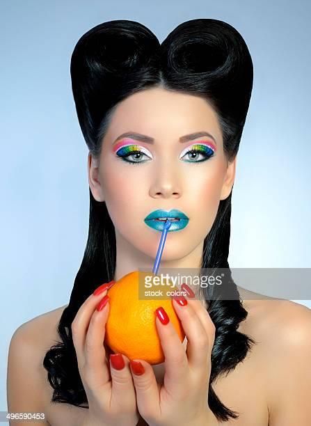 ファッション女性、オレンジの搾り汁 23 ml