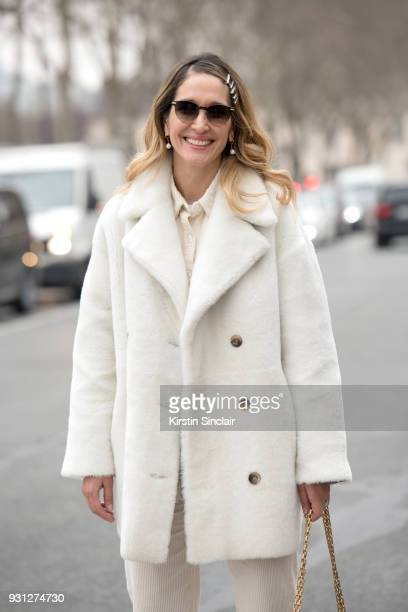 Fashion writer and Founder of Belmodo Tiany Kiriloff wears an Enes jacket Lois trousers and shirt Ace and Tate sunglasses day 2 of Paris Womens...