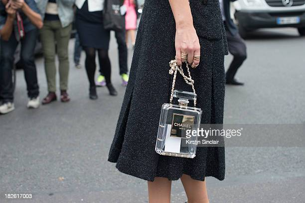 Fashion writer and founder of Buro 247 Russia Miroslava Duma wears Chanel on day 8 of Paris Fashion Week Spring/Summer 2014, Paris October 01, 2013...