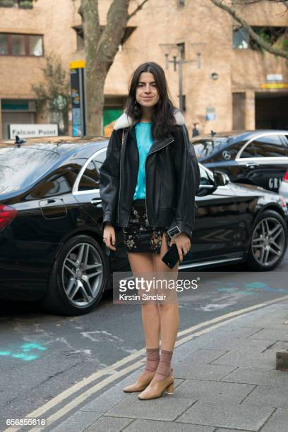 Fashion writer and founder of The Man Repeller Leandra Medine on day 3 of London Womens Fashion Week Autumn/Winter 2017 on February 19 2017 in London...