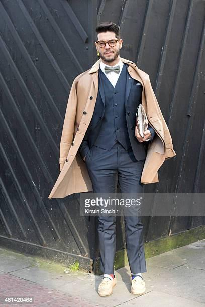 Fashion writer for I Officiel homme Kadu Dantas wearing Gucci shoes Ricardo  Almeida trousers vets 2ded07323d1