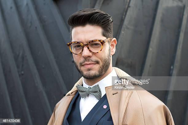 Fashion writer for I Officiel homme Kadu Dantas wearing Ricardo Almeida  vets blazer and shirt 3f060157b0a