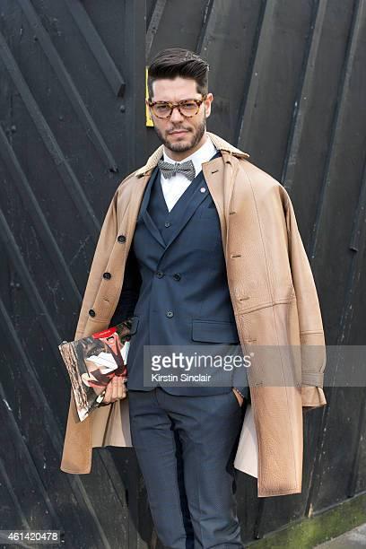 Fashion writer for I Officiel homme Kadu Dantas wearing Ricardo Almeida  trousers vets blazer and c96d4b43971