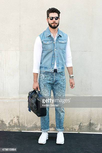 Fashion writer for L Officiel homme Kadu Dantas wears all Dior on day 4 of 22769d02a4e
