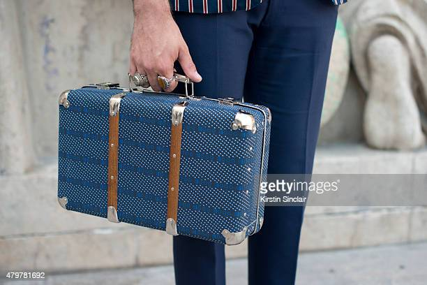 Fashion writer for L Officiel homme Kadu Dantas wears Gant Trousers and  Merci bag on c82714de5f5