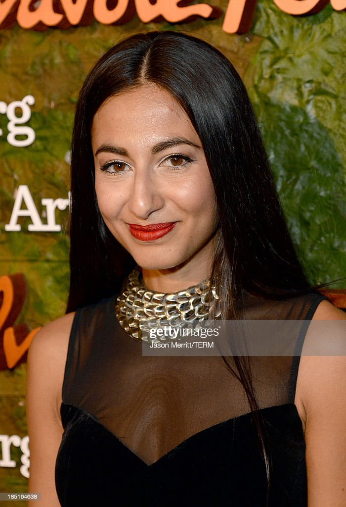 Fashion writer for the New York post Nosheen Shau arrives at the Wallis Annenberg Center for the Performing Arts Inaugural Gala presented by Salvatore Ferragamo at the Wallis Annenberg Center for the Performing Arts on October 17, 2013 in Beverly Hills, California.