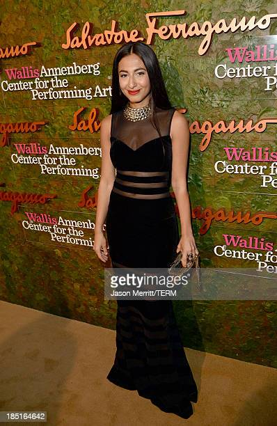 Fashion writer for the New York post Nosheen Shau arrives at the Wallis Annenberg Center for the Performing Arts Inaugural Gala presented by...