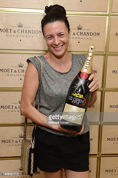 Fashion writer Garance Dore visits the Moet Chandon Suite at the 2012 US Open at the USTA Billie Jean King National Tennis Center on August 27 2012...