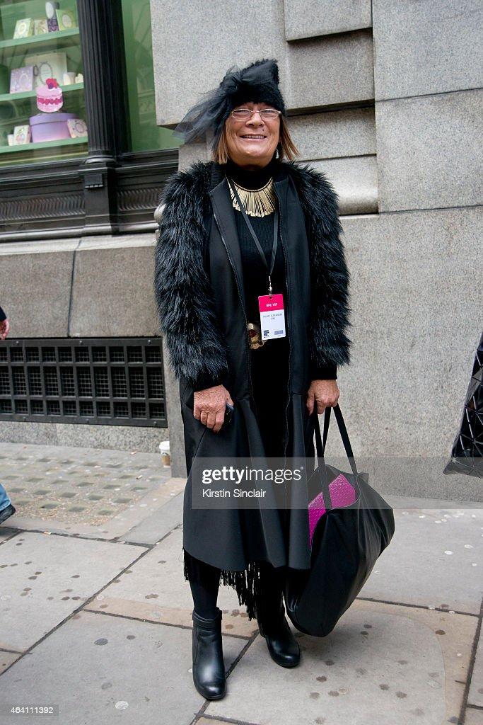 Fashion Writer Hilary Alexander on February 21, 2015 in London, England.