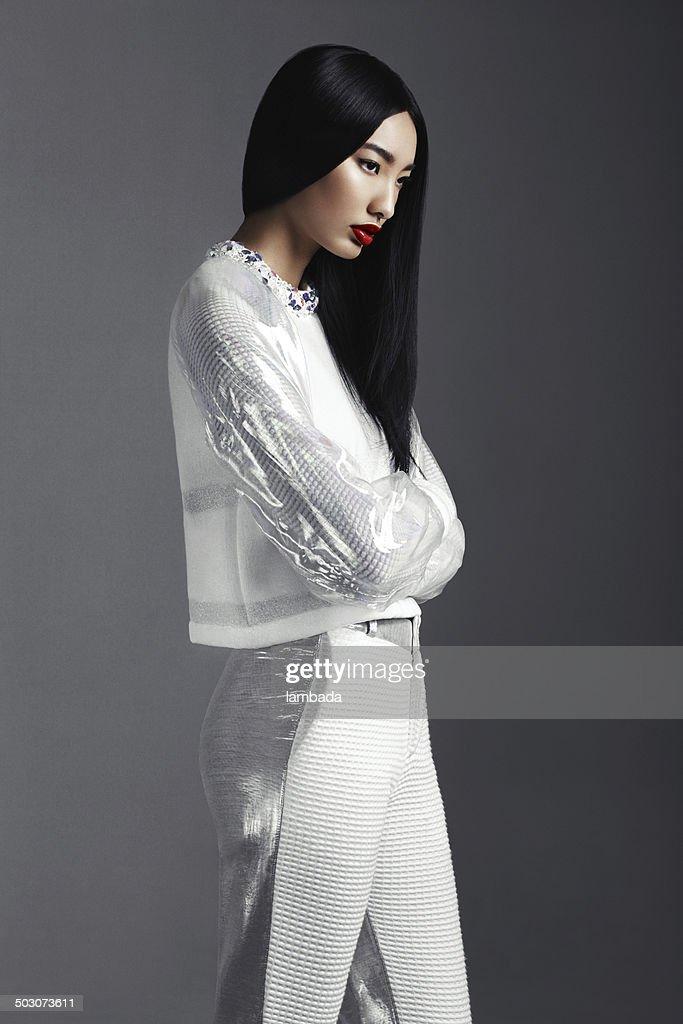 Fashionable Asian woman : Stock Photo
