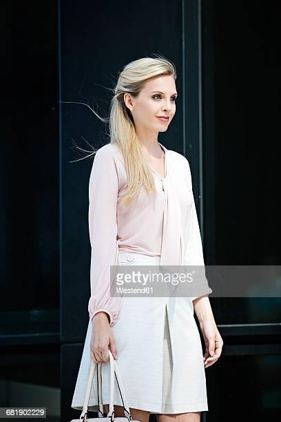 Fashionable blond businesswoman