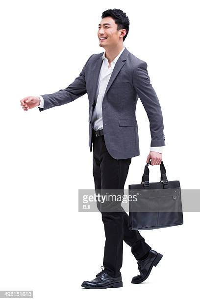 Fashionable businessman on the move