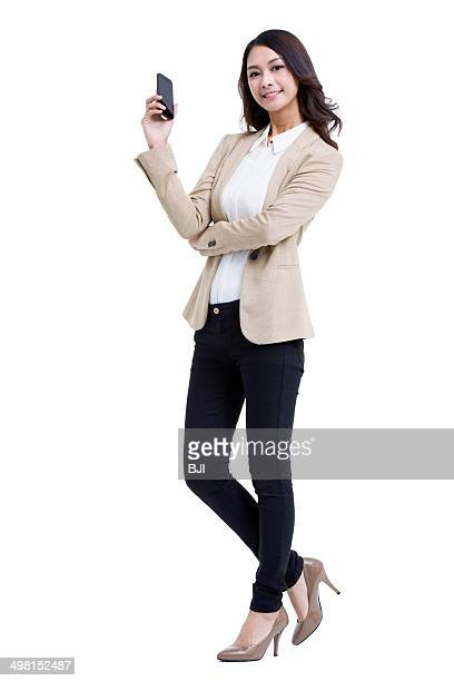 Fashionable businesswoman on the phone