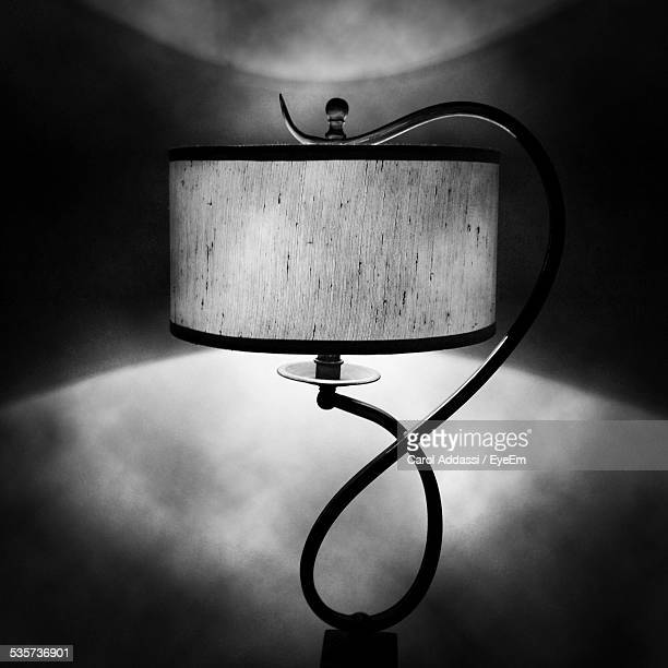 Fashionable Lamp In Dark Room