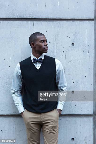 Fashionable man looking off camera