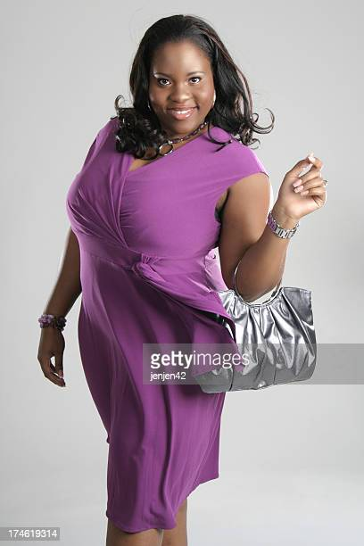 fashionable mature women - images of fat black women stock photos and pictures
