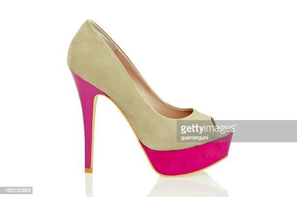 Modische Peeptoe High Heels in coolen Farben