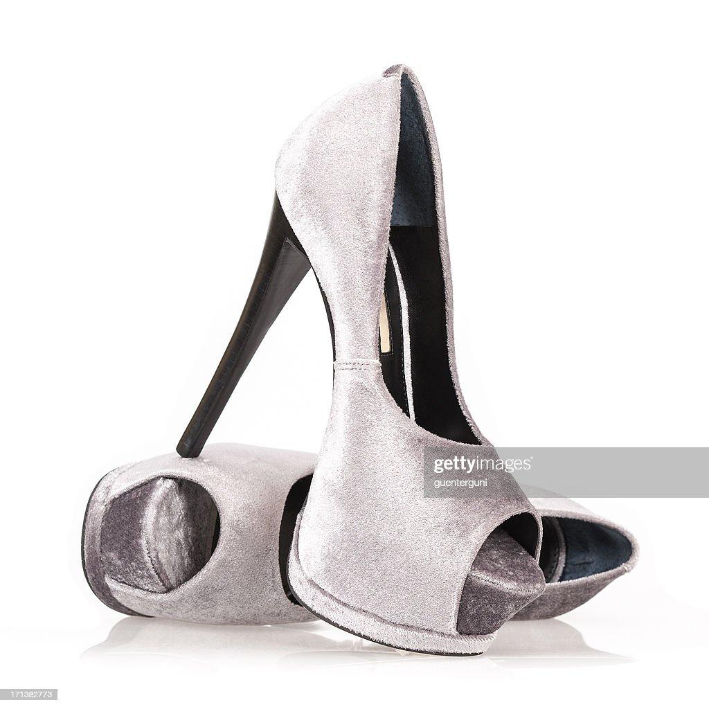 Fashionable Platform High Heels with Peeptoe : Stock Photo