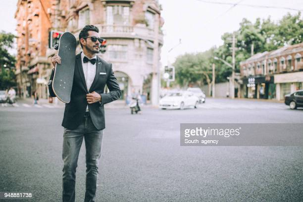 fashionable skater - neckwear stock pictures, royalty-free photos & images