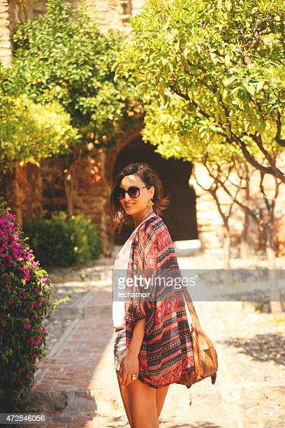 fashionable tourist