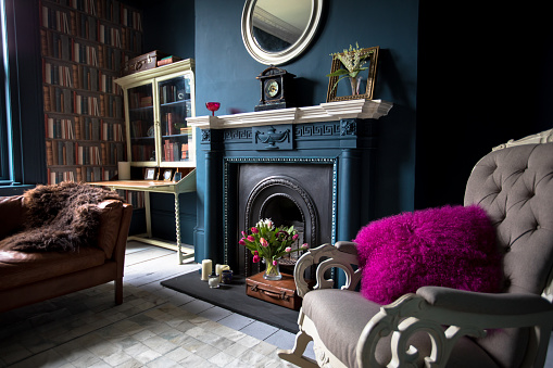 Fashionable vintage styled living room - gettyimageskorea