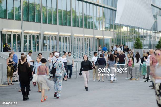 Fashionable Visitors Outside Art Basel Miami Beach