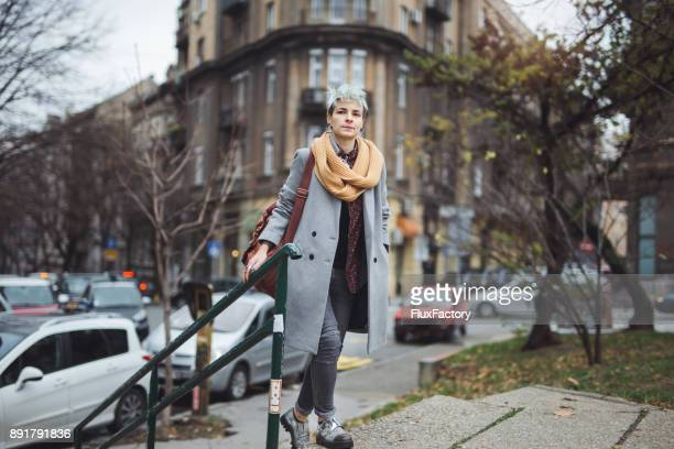 Fashionable woman in the city