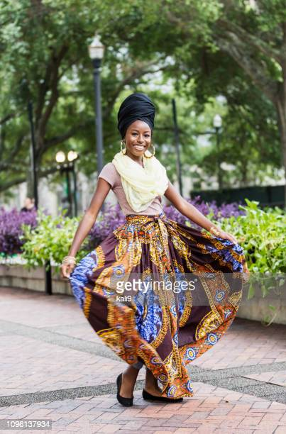 fashionable young african-american woman - black skirt stock pictures, royalty-free photos & images