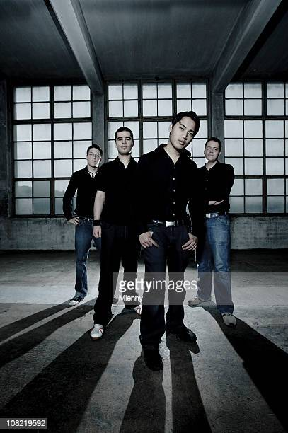 fashionable young men, boy band group shot - pop music stock pictures, royalty-free photos & images
