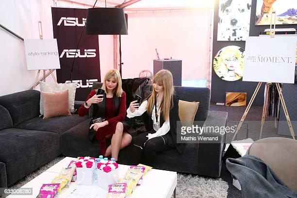 Fashionbloger Kim Ahrens and Fashionblogger Lara Goldack attend the Fashionbloggercafe during Platform Fashion January 2017 at Areal Boehler on...