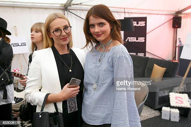 Fashionblogger Maike Langer and Fashionblogger Julia Schaeffner attend the Fashionbloggercafe during Platform Fashion January 2017 at Areal Boehler...
