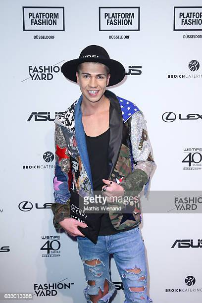 Fashionblogger Maximilian Seitz attends the Fashionyard show during Platform Fashion January 2017 at Areal Boehler on January 29 2017 in Duesseldorf...