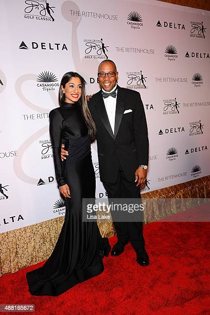 Fashionista Seema Sadekar and ESPN Sports Commentator Jay Harris attend The Julius Erving Black Tie Ball Event at The Rittenhouse Hotel on September...