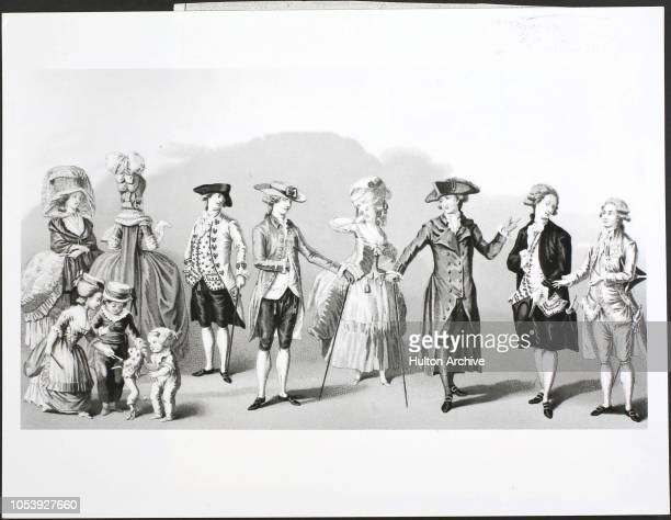 Fashions For Men Women And Children In The Reign Of Louis XVI From The Gallery Of French Fashions And Costumes To follow the figures in the plate 1 2...