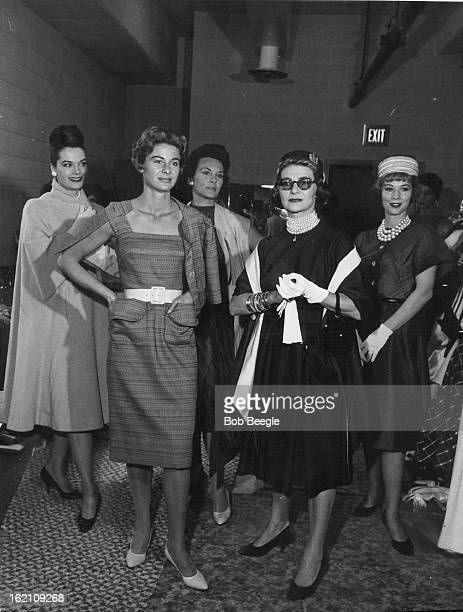 APR 7 1960 APR 8 1960 Fashion's Prima Donna Pauline Trigere poses with styles shown at the Hilton
